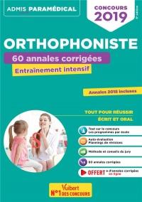 Concours Orthophoniste 2019 - 60 annales corrigées - Entraînement intensif