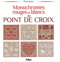 Monochromes rouges et blancs au point de croix