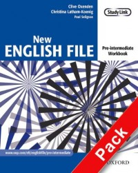 New English File pre-intermediate workbook with answers and multiROM pack