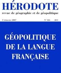 Géopolitique langue française