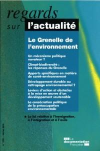 Le Grenelle de l'environnement (n.338 février 2008)