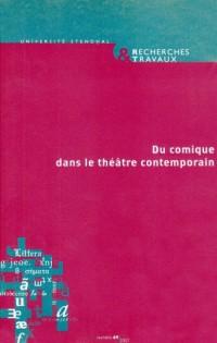 Du comique dans le théâtre contemporain