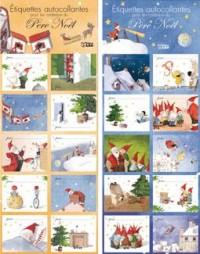 Etiquettes Noël Orange - Bleues pour les Cadeaux de Noël
