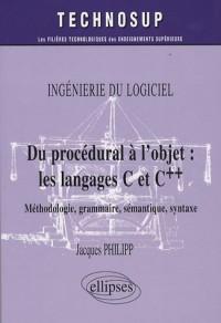 Du Procedural A L'Objet Les Langages C & C++