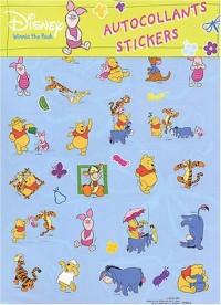 Autocollants Winnie, stickers bleu