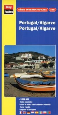 Carte routière et touristique : Portugal - Algarve, N° 345 (avec un index)
