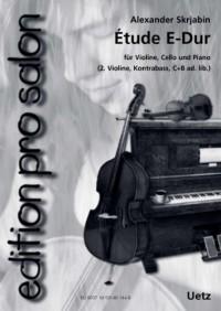 Étude E-Dur Op. 8 No. pour ensemble de salon (Partition de piano et voix)
