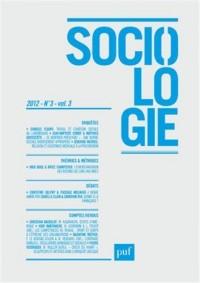 Sociologie, N° 3, vol 3, 2012 :