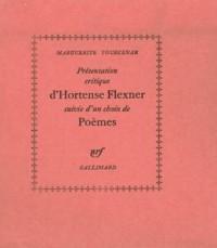 Présentation critique d'Hortense Flexner