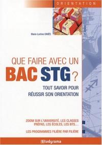 Que faire avec un Bac STG ?