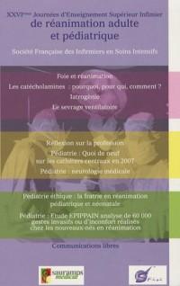 XXVIes journées d'enseignement supérieur infirmier de réanimation adulte et pédiatrique : Société Française des Infirmiers en Soins Intensifs