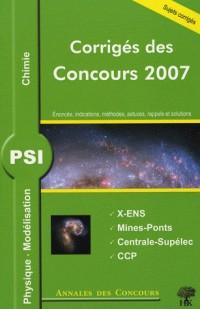 Physique, Modélisation et chimie PSI