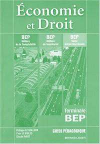 Economie et Droit Tle BEP : Guide pédagogique