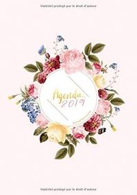 Agenda 2019 Din A5 Motif Floral Rose Fuchsia: Agenda 2019 semainier, fleurs aquarelles, Planificateur d'activités, Carnet de notes et journal, 1 Semaine sur 2 Pages