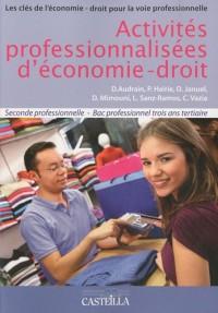 Activités professionnelles d'économie-droit 2e Bac pro tertiaire