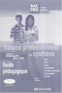 Travaux professionnels de synthèse 1e/Tle Bac Pro comptabilité : Guide pédagogique (1Cédérom)