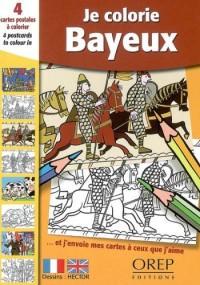 4 cartes postales à colorier : je colorie Bayeux