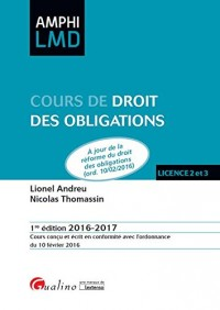 Cours de Droit des obligations 2016-2017