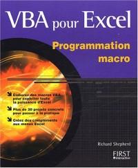 VBA pour Excel programmation macro