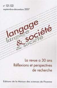 Langage et société, N° 121-122, Septembr : Réflexions et perspectives de recherche