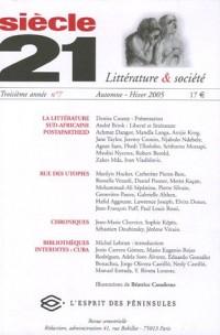 Siècle 21, N° 7, Automne-Hiver : La littérature sud-africaine post-apartheid