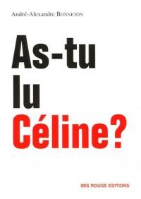 As-tu lu Céline ?