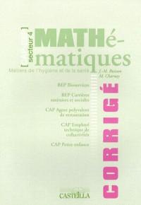 Maths Cap/Bep Metiers Sante Corrige