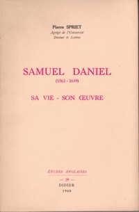 Samuel daniel (1563- 1619), sa vie, son