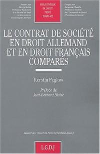 Contrat de société en droit allemand et en droit français comparé