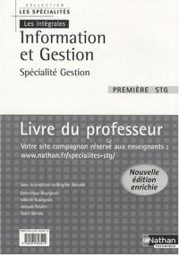 Information et Gestion 1e STG spécialité gestion : Livre du professeur