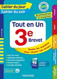 Cahier du jour/Cahier du soir Tout en Un 3e - Nouveau programme 2016