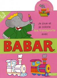 Je joue et je colorie les transports avec Babar