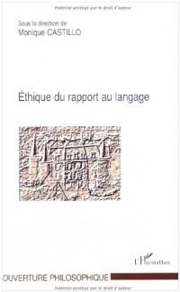 Ethique du rapport au langage