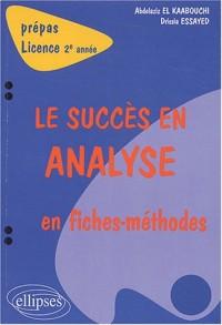 Le succès en analyse en fiches-méthodes : 2e année