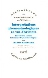 Interpretations Phenomenologiques en Vue d'Aristote