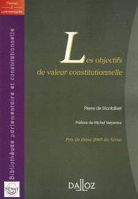 Les objectifs de valeur constitutionnelle