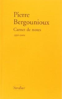 Carnet de notes 1991-2000
