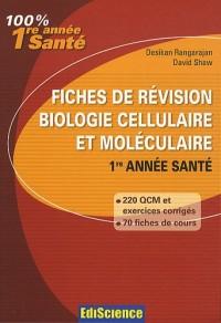Fiches de révision Biologie cellulaire et moléculaire 1re année Santé: Rappel de cours, QCM et exercices corrigés