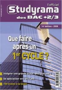 L'officiel Studyrama des bac +2/3 : Que faire après un 1er cycle ?