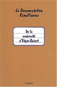 De la modernité d'Edgar Quinet : L'homme est son propre Prométhée