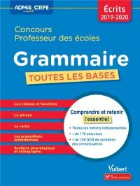 Concours professeur des écoles (CRPE) 2019-2020 : Toutes les bases en Grammaire