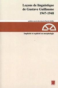 Leçon de Linguistique de Gustave Guillaume V 22 (1947-1948)