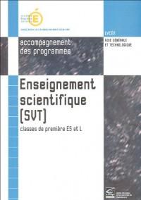 Enseignement scientifique (sciences de la vie et de la Terre) classes de 1e ES et L : Accompagnement des programmes