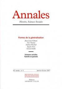Annales. histoire, sciences sociales - vol. 62 (1/2007)