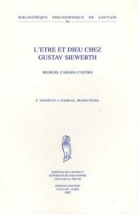 L'Etre et Dieu chez Gustav Siewerth