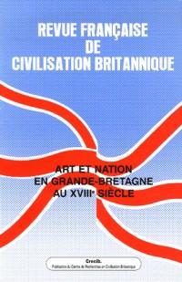 Revue française de civilisation britannique, Volume XIII (4) Prin : Art et nation en Grande-Bretagne au 18e siècle