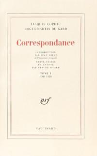 Correspondance Copeau - Martin du Gard, tomes 1 et 2