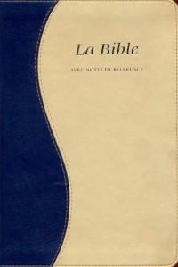 Bible Segond 21 de Reference, Souple, Similicuir, Tranche Or, Duo Bleu