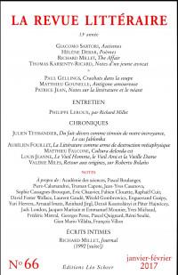 la Revue littéraire n° 66 (janvier-février 2017)