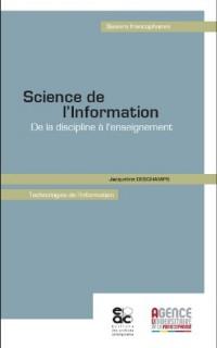Science de l'Information De la discipline a l'enseignement